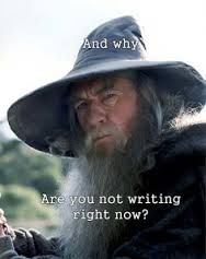 gandalf writing